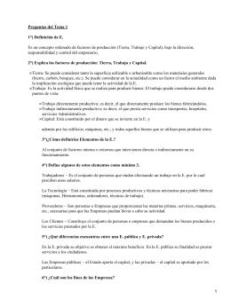 Preguntas del Tema 1 1°) Definición de E.