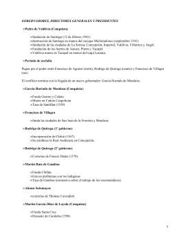 Gobernadores, directores generales y presidentes de Chile