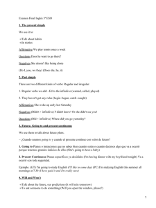 Examen Final Inglés 3º ESO We use it to: Talk about habits