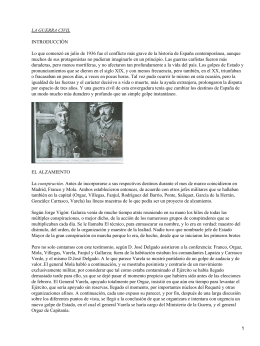 LA GUERRA CIVIL INTRODUCCIÓN
