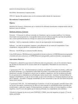 INSTITUTO POLITÉCNICO NACIONAL MATERIA: Herramientas Computacionales