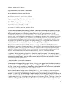 Historia Constitucional de México