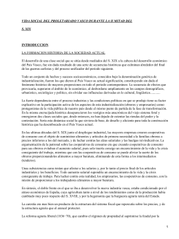 Historia contemporánea de España y Euskadi