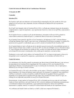 Historia de las Constituciones Mexicanas; Emilio Rabasa
