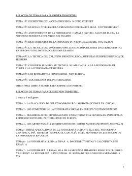 RELACION DE TEMAS PARA EL PRIMER TRIMESTRE.: