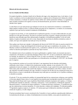 Historia del derecho mexicano. los tres triunfos del liberalismo