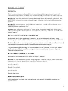 HISTORIA DEL DERECHO CONCEPTO: