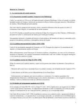 Historia moderna y contemporánea de España