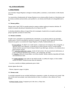 EL ANTIGUO RÉGIMEN 1. Antiguo Régimen •