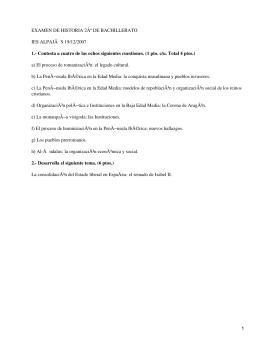 EXAMEN DE HISTORIA 2º DE BACHILLERATO IES ALPAJà S 19/12/2007
