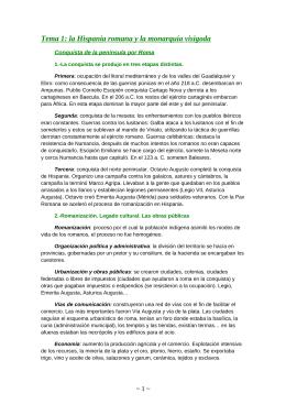 Tema 1: la Hispania romana y la monarquía visigoda