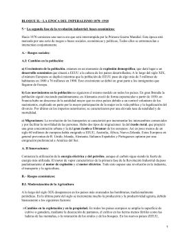BLOQUE II.− LA EPOCA DEL IMPERALISMO 1870−1918