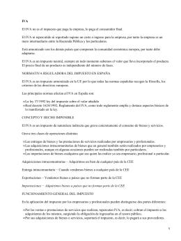 Impuestos en España: el IVA (Impuesto Sobre el Valor Añadido)