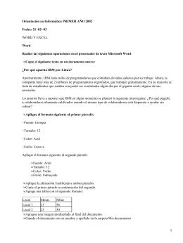 Orientación en Informática PRIMER AÑO 2002 Fecha: 21−02−03 Word