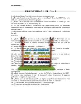 CUESTIONARIO  No. 1