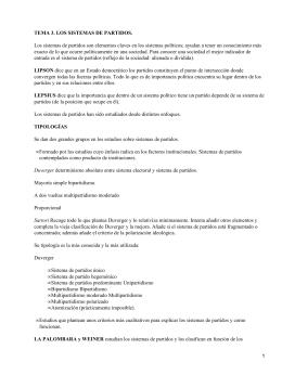 TEMA 3. LOS SISTEMAS DE PARTIDOS.