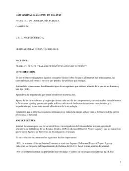 UNIVERSIDAD AUTONOMA DE CHIAPAS FACULTAD DE CONTADURÍA PUBLICA. CAMPUS IV.