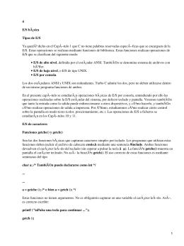 Introducción al lenguaje C. E/S Básica