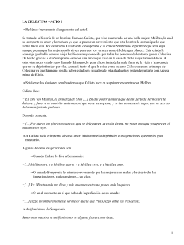 Preliminares y acto i for La celestina argumento