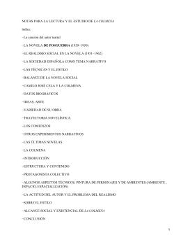 LA COLMENA índice: −La canción del autor teatral DE POSGUERRA