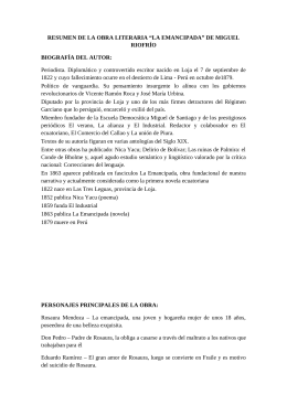 La Emancipada; Miguel Riofrío