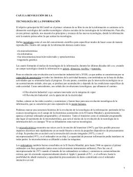La Era de la Información; M. Castell
