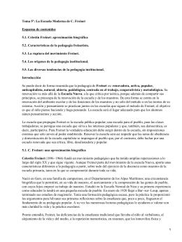 La Escuela Moderna; Celestín Freinet