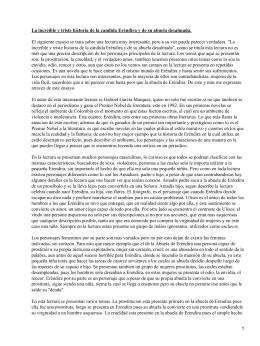 La increíble y triste historia de la cándida Eréndira y de su abuela desalmada; García Márquez