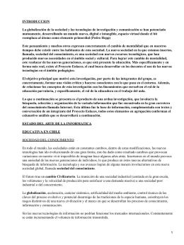 La Informática en el Aprendizaje en Chile