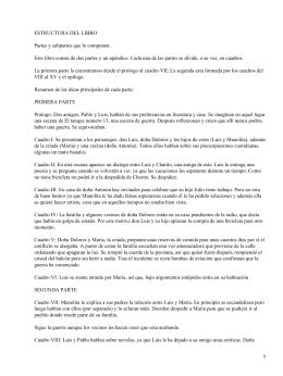 ESTRUCTURA DEL LIBRO Partes y subpartes que lo componen: