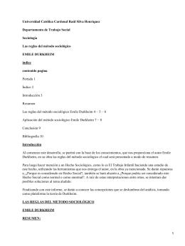 Las reglas del método sociológico; Emile Durkheim