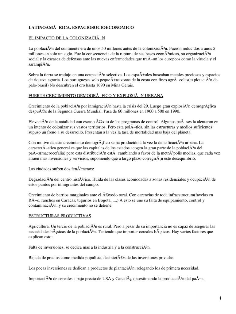 Latinoamérica Espacio Socioeconómico