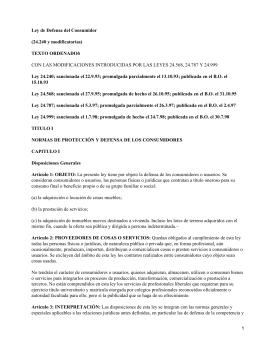 Ley de Defensa del Consumidor en Argentina