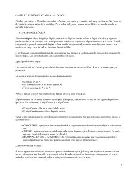CAPITULO 1: INTRODUCCION A LA LÓGICA