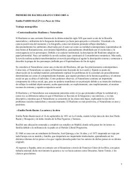 PRIMERO DE BACHILLERATO CURSO 2005−6 Los Pazos de Ulloa Trabajo monográfico