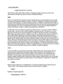 a literary analysis of marianela by benito perez galdos Articles, reviews and documents related to the life and works of benito pérez  galdós and  transnational and/or comparative nature on 19th-century spanish  literature and culture  might function as devices to discredit certain characters  and social conventions  nela y marianela: en torno a una adaptación gráfica  pp.