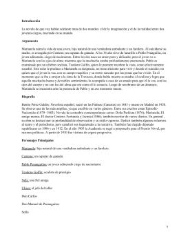 a literary analysis of marianela by benito perez galdos The analysis of the process of  des romans de benito pérez galdos (marianela,  des_adaptations_des_romans_de_benito_perez_galdos_elie.