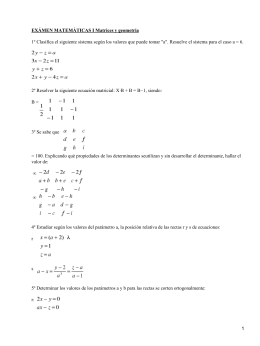 Matrices y Geometría