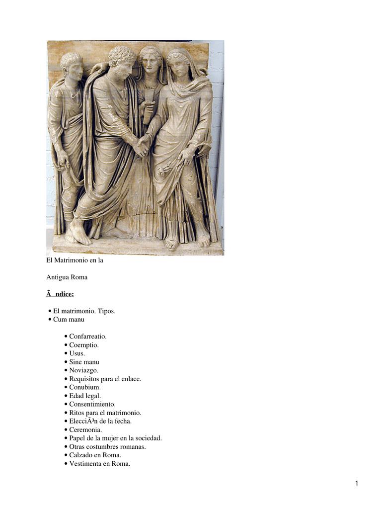 Matrimonio Romano Iustae Nuptiae : Matrimonio en la antigua roma