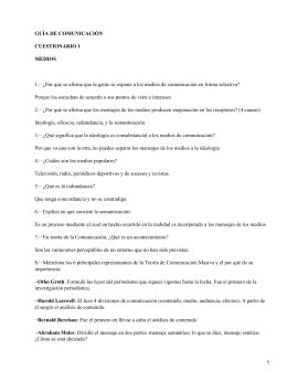 GUÍA DE COMUNICACIÓN CUESTIONARIO 1 MEDIOS
