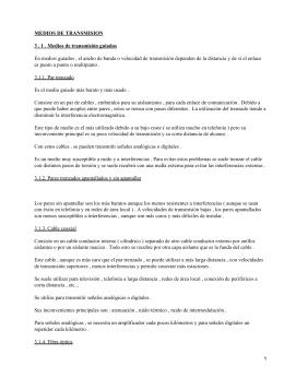 MEDIOS DE TRANSMISION 3 . 1 . Medios de transmisión guiados