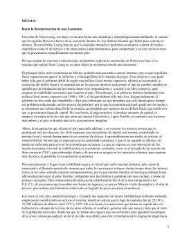 México: hacia la reconstrucción de una economía; Nora Lustig