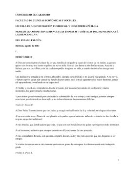 Modelo de competitividad para las empresas turísticas del Estado de Falcón