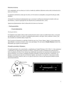 Modelos astronómicos