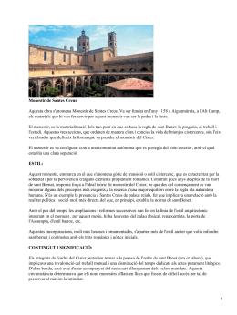 Monestir de Santes Creus. Santa María del Mar