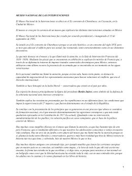Museo Nacional de las Intervenciones de Ciudad de México