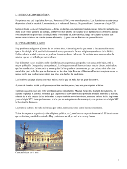 I.− INTRODUCCIÓN HISTÓRICA Barroco
