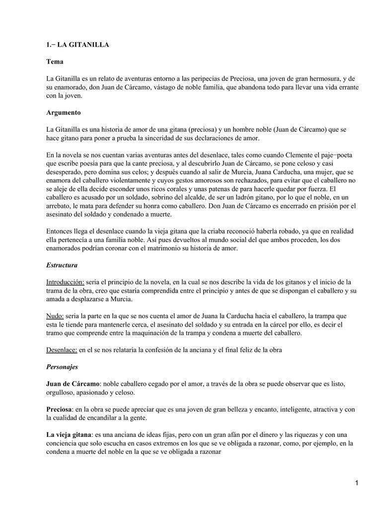 1 La Gitanilla Tema