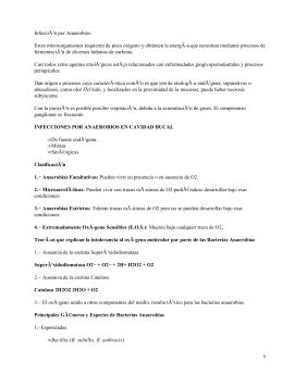 Odontología: infección por anaerobios