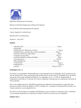 República Bolivariana de Venezuela Universidad Nacional Experimental de Guayana